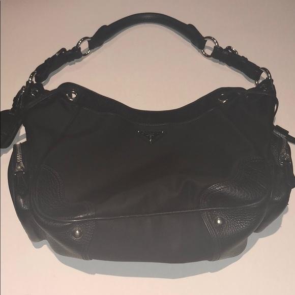 f29fa3d12766 Prada Milano women s shoulder bag black large. M 5b5fe6e0619745a359d4f763